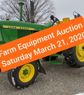 2020 Spring Farm Machinery Consignment Auction