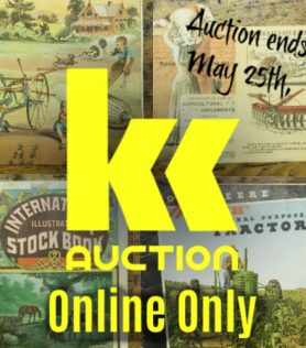Early Farm & Agricultural Paper Advertising Auction – ONLINE ONLY