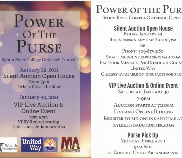 United Way 11th Annual Power of the Purse LIVE AND ONLINE